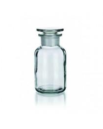 Бутыль для реагентов с притертой пробкой (светлое стекло, широкая горловина) 100 мл (Чехия) (2006/В/100)