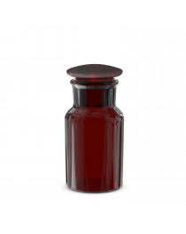 бутыль для реагентов с притертой пробкой (темное стекло шир. горловина)(Чехия) 100 мл (2006/Н/100)