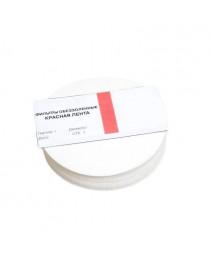 фильтры лабораторные обеззоленные лента красная d=125 мм