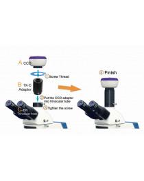 Микроскоп тринокулярный XSP-139T LED (4х,10х,40х,100хOil), ULAB