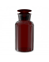 бутыль для реагентов с притертой пробкой (темное стекло шир. горловина)(Чехия) 250 мл (2006/Н/250)
