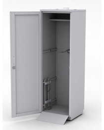 Шкаф для баллонов. Обшивка шкафа - листовой металл. Две двери, крепеж для двух баллонов. Габариты (ДхГхВ),мм:  600x600x1920.