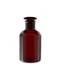 бутыль д/реаг. с притертой пробкой (темное стекло узк. горловина) 500 мл (Чехия) (2002Н/500)