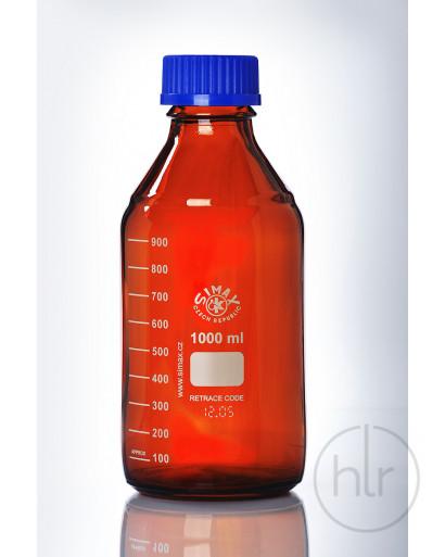 бутыль д/реаг. с винтовой крышкой и градуировкой  темное стекло 2000 мл ТС (SIMAX) (2070/H/2000)
