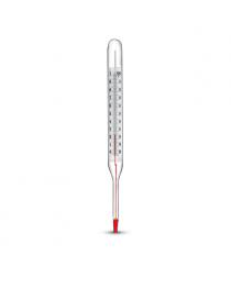 термометр технический жидкостной с погружной частью длиной 163 мм