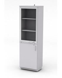 Шкаф для посуды. Две распашные двери оборудованы замками. В комплекте предусмотрен кронштейн для крепления.Габариты (ДхГхВ), мм: 600х400х1920.