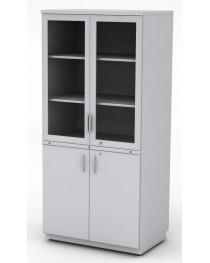 Шкаф для посуды.Четыре распашные двери оборудованы замками. Габариты (ДхГхВ), мм: 900х600х1920.