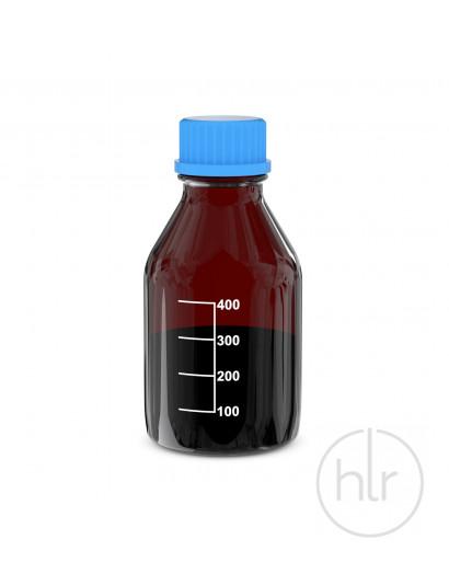 Бутыль для реагентов с винтовой крышкой и градуировкой темное стекло 500 мл