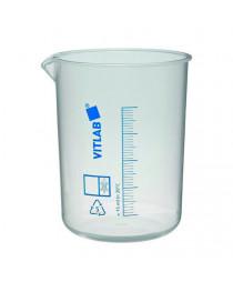 стакан полипропиленовый с градуировкой (синяя шкала) 250мл (Vitlab) (610081)