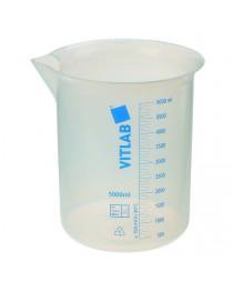 стакан полипропиленовый с градуировкой (синяя шкала) 100 мл (Vitlab) (608081)