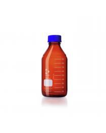 Бутыль для реагентов с винтовой крышкой и градуировкой 500 мл, GL 45, темное стекло (DURAN, Германия) (218064455)
