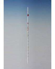 Пипетка мерная с градуировкой (класс А) 10 мл Чехия (частичный слив, от 0) (1605/AS-С/10)