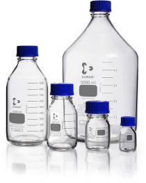 Бутыль для реагентов с винтовой крышкой и градуировкой 150 мл, GL 45 (DURAN, Германия) (218012955)