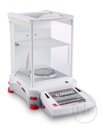 Весы полумикро, EX225/AD, 220 г/0,01 мг, автоматическая внутренняя калибровка, сенсорный дисплей, автоматические дверцы, встроенный ионизатор, OHAUS