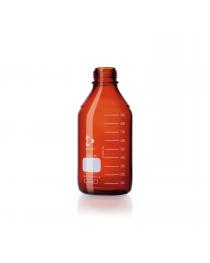 Бутыль для реагентов без крышки, с градуировкой 1000 мл, GL 45, темное стекло (DURAN, Германия) (218065402)