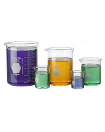 Стакан низкий, боросиликатное стекло 3.3, 250 мл, 70/95 мм, (10шт/уп) (Kimble Kontes) (9.013 904)