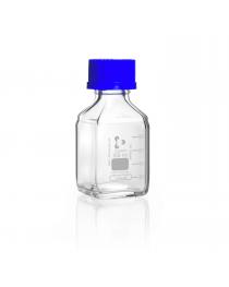 Бутыль для реагентов квадратный, с винтовой крышкой и градуировкой, 100 мл, GL 32 (DURAN, Германия) (218202453)
