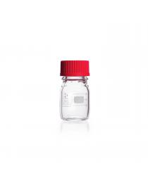 Бутыль для реагентов с красной PBT крышкой и градуировкой 100 мл, GL 45 (DURAN) (218012417)