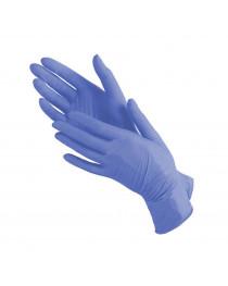 Перчатки нитриловые голубые не опудренные текстурованные Optimality, р.M (уп 50 пар)