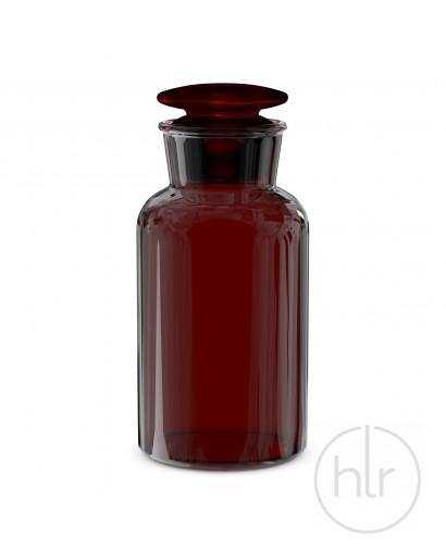 бутыль д/реаг. с притертой пробкой (темное стекло шир. горло) 250 мл