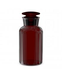 Бутыль для реагентов с притертой пробкой, темное стекло узкое горло, 500 мл