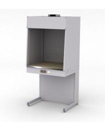 Шкаф для муфельных печей. Материал рабочей поверхности столешницы шкафа: керамогранит с бортиком из нержавеющей стали. Габариты (ДхГхВ),мм: 900x750x1920.