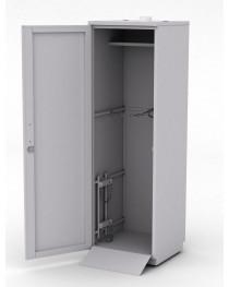 Шкаф для 2-х баллонов с пандусом и кронштейном для дополнительного малолитражного баллона. Габариты (ДхГхВ), мм: 600x600x1920.