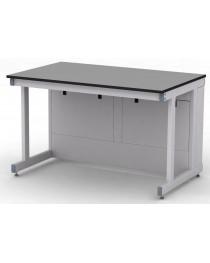 Стол лабораторный усиленный.Материал рабочей поверхности стола: химически стойкий пластик ЛАБГРЕЙД без бортика (пр-во Италия).Габариты (ДхГхВ), мм: 1200х750х750 (для работы сидя).