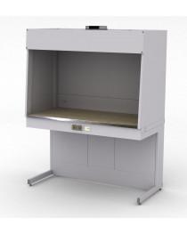 Шкаф для муфельных печей. Материал рабочей поверхности столешницы шкафа: керамогранит с бортиком из нержавеющей стали.Габариты (ДхГхВ),мм: 1500x750x1920.