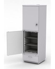 Шкаф для реактивов с 2 капсулами химически стойкими и выдвижным ящиком внизу. Габариты (ДхГхВ), мм: 600х600х1920(1940).