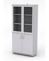 Шкаф для посуды.Четыре распашные двери оборудованы замками. В комплекте предусмотрен кронштейн для крепления. Габариты (ДхГхВ), мм: 900х400х1920.