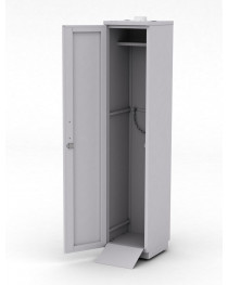 Шкаф для баллонов. Обшивка шкафа - листовой металл. Одна дверь, крепеж для одного баллона. Габариты (ДхГхВ),мм:  400x450x1920.